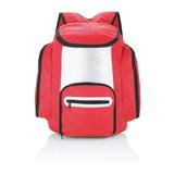 Рюкзак-холодильник, красный/ серебряный/серый фото