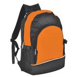 Рюкзак оранжевый с черным, черный, оранжевый фото