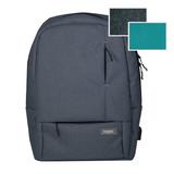 Рюкзак Portobello с USB разъемом, Migliores, 460х362х111 мм, серый/бирюза фото