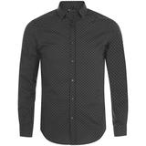 Рубашка мужская BECKER MEN, темно-серая с белым фото