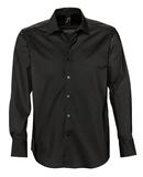 Рубашка мужская с длинным рукавом BRIGHTON, черная фото