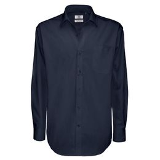 Рубашка мужская с длинным рукавом Sharp, тёмно-синяя фото