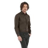 Рубашка мужская с длинным рукавом Black Tie LSL/men, коричневая фото