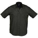 Рубашка мужская с коротким рукавом BRISBANE, черная фото