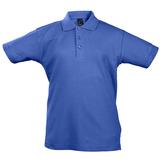 Рубашка поло детская Summer II Kids 170, ярко-синяя фото