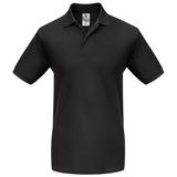 Рубашка поло мужская B&C Heavymill, черная фото