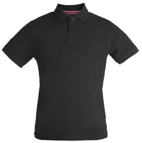 Рубашка поло мужская James Harvest Avon, черная фото