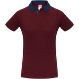 Рубашка поло мужская DNM Forward бордовый/синий джинс, бордовый фото