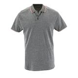 Рубашка поло мужская PANAME MEN, черный меланж фото