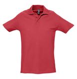 Рубашка поло мужская Sol's Spring 210, красная фото