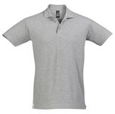 Рубашка поло мужская Sol's Spring 210, серый меланж фото