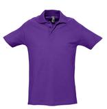 Рубашка поло мужская SPRING 210, темно-фиолетовая фото