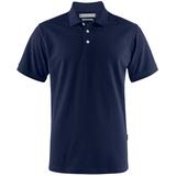 Рубашка поло мужская James Harvest Sunset, темно-синяя фото