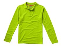 Рубашка поло Point мужская с длинным рукавом, зеленый фото