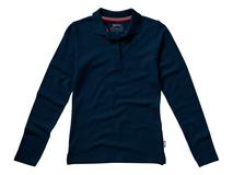 Рубашка поло женская Slazenger Point, длинные рукава, синяя фото