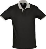 Рубашка поло Prince 190, черная с серым фото