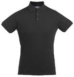 Рубашка поло стретч мужская EAGLE, черная фото