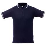 Рубашка поло мужская Unit Virma Stripes, темно-синяя фото
