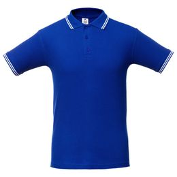 Рубашка поло мужская Unit Virma Stripes, ярко-синяя фото