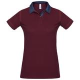 Рубашка поло женская DNM Forward бордовая, бордовый фото