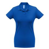 Рубашка поло женская ID.001 ярко-синяя, синий фото