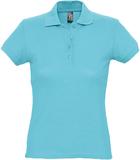 Рубашка поло женская Sol's Passion 170, бирюзовая фото