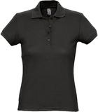 Рубашка поло женская PASSION 170, черная фото