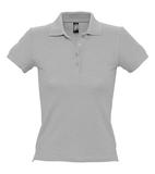 Рубашка поло женская Sol's People 210, темный меланж фото