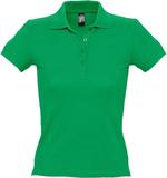 Рубашка поло женская Sol's People 210, ярко-зеленая фото