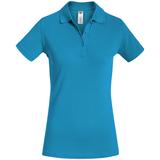 Рубашка поло женская Safran Timeless бирюзовая, бирюзовый фото