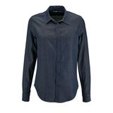 Рубашка женская BARRY WOMEN, синяя (деним) фото