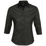 Рубашка женская с рукавом 3/4 EFFECT 140, черная фото