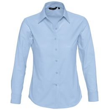 Рубашка женская с длинным рукавом EMBASSY, голубая фото