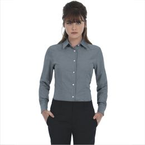 Рубашка женская с длинным рукавом Oxford LSL/women, серая фото