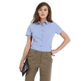 Рубашка женская с коротким рукавом Smart SSL/women, голубая фото