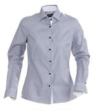 Рубашка женская в полоску RENO LADIES, темно-синяя фото