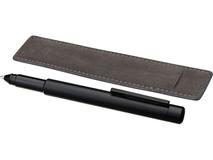 Ручка металлическая шариковая с флешкой, чёрная фото