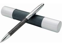 Ручка металлическая шариковая Winona, черный, серый фото