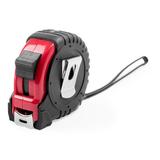 Рулетка пластиковая, 5 м., с металлическим клипом, черный/ красный фото