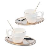Набор чайный Ricciolo, на 2 персоны, белый фото