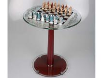 Шахматы Людовик XIV, прозрачный, коричневый фото