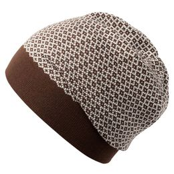 Шапка Crown, коричнево-белая фото