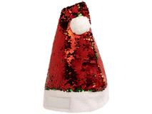Шапка рождественская Sequins, красная фото