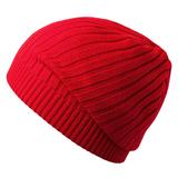 Шапка Stripes, красная (алая) фото