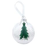 Шар новогодний Ель, прозрачный, зеленый фото