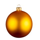 Шар новогодний MATT, стекло, золото фото