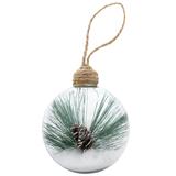 Шар новогодний Twiggy, прозрачный, зеленый фото