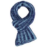 Шарф Chain Multi, сине-голубой фото
