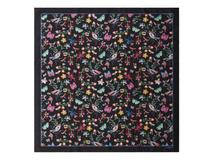 Шелковый платок Butterfly, чёрный фото