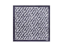 Шелковый платок Hirondelle Navy, тёмно-синий фото